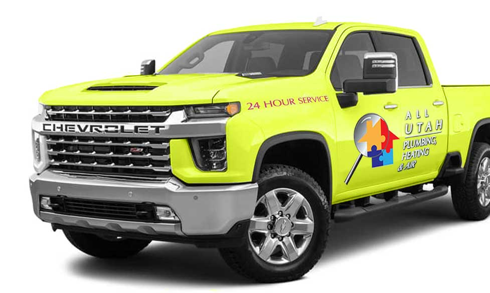 green service pickup truck with company logo